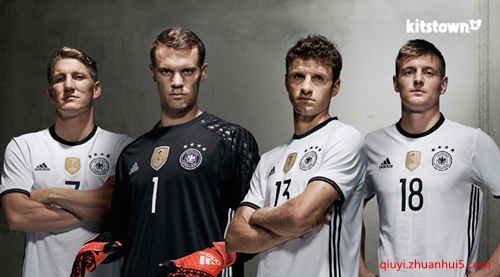 德国国家队2016欧洲杯白色主场球衣(adidas)_足球队服图片